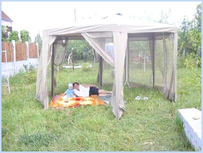 шатер-тент для дачи